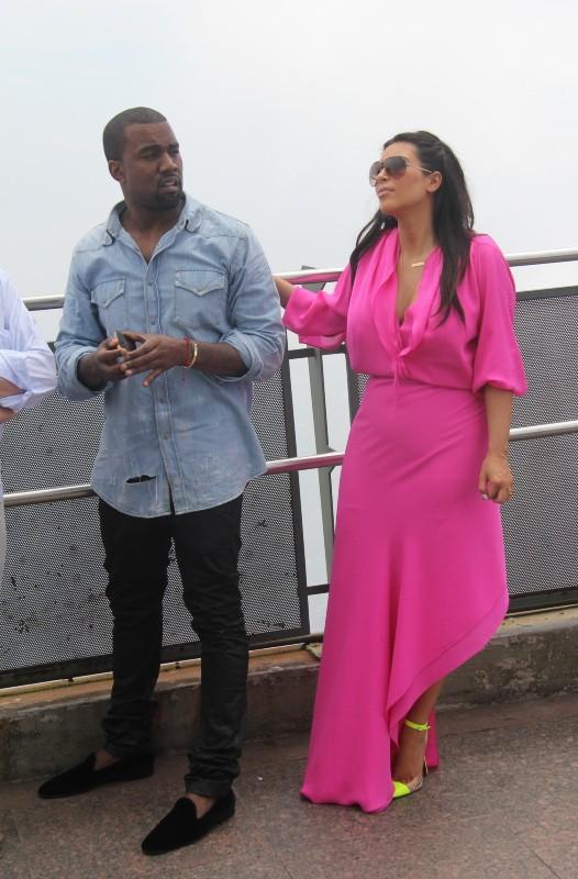Kim Kardashian et Kanye West, Rio de Janeiro, 9 février 2013.