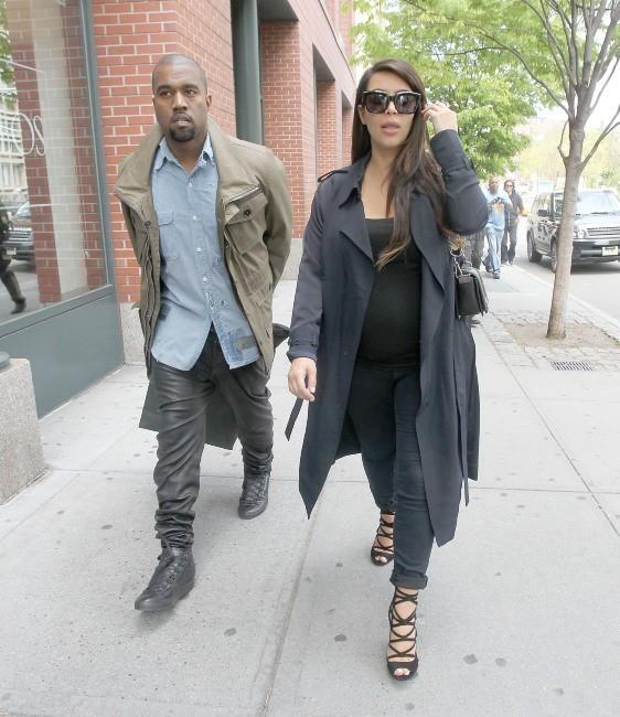 Kim Kardashian et Kanye West, New York, 6 mai 2013.