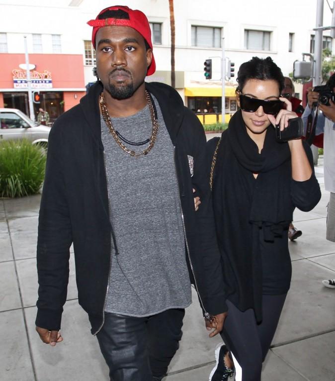 Kim Kardashian et Kanye West, Beverly Hills, 24 décembre 2012