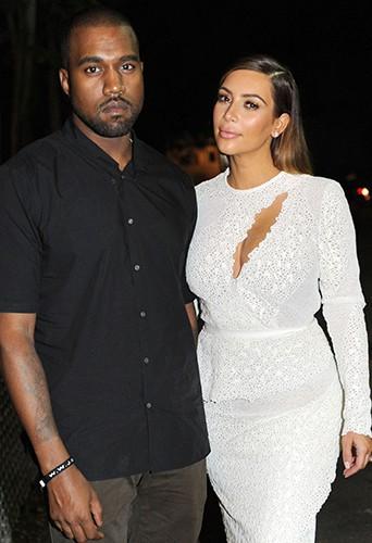 Kanye West et Kim Kardashian à Miami le 4 décembre 2013