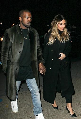 Kanye West et Kim Kardashian à New-York le 25 novembre 2013