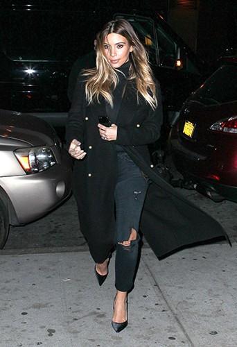 Kim Kardashian à New-York le 25 novembre 2013