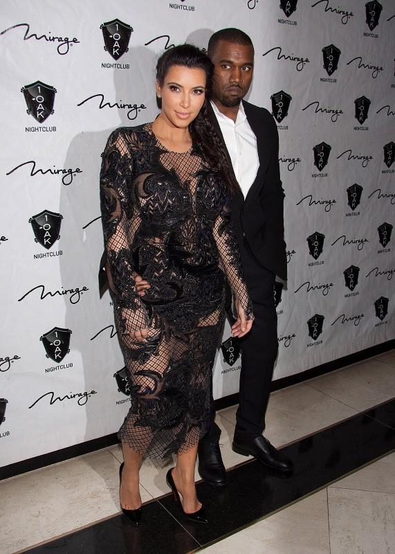 Kim Kardashian et Kanye West le 31 décembre 2012 à Las Vegas