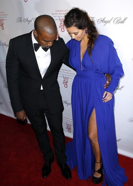 Kanye West et Kim Kardashian à l'Angel Ball de New-York le 22 octobre 2012