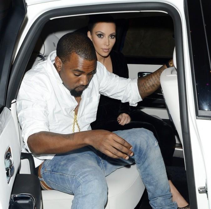 Kim Kardashian et Kanye West le 9 novembre 2012 à Londres