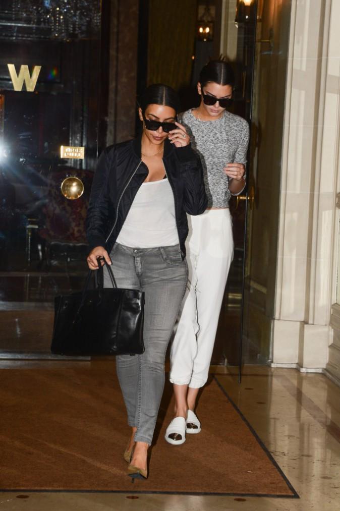 Photos : Kim Kardashian et Kendall Jenner : bye bye Paris !