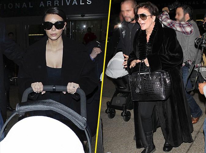 Kim Kardashian et Kris Jenner à Los Angeles le 28 février 2014