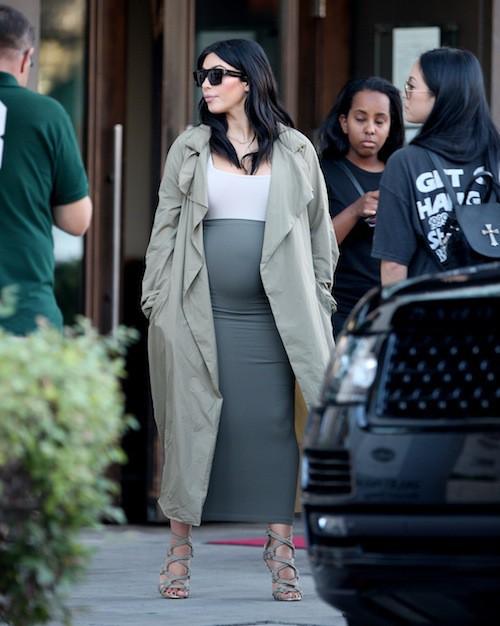 Photos : Kim Kardashian et son énorme baby bump de sortie !