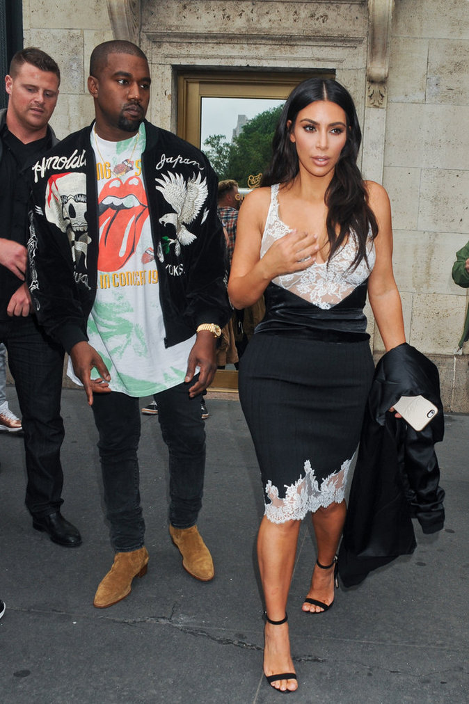 Kim et Kanye West en ville