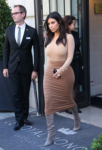 Kim Kardashian à Paris le 27 septembre 2014