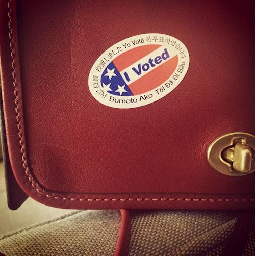 Kerry Washington vote pour les élections de mi-mandat de novembre 2014 aux Etats-Unis