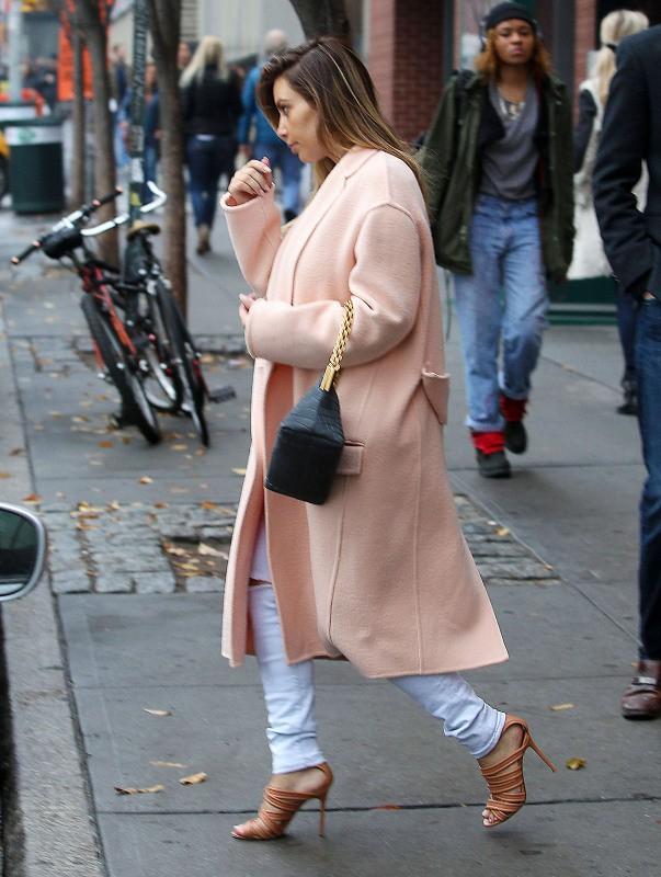 Kim Kardashian à New York, le 18 novembre 2013.