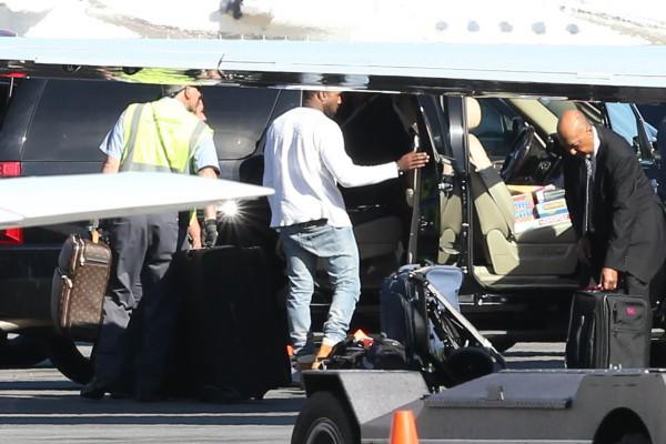 Kanye West prêt à faire son retour à L.A., le 2 janvier 2013 dans l'Utah.