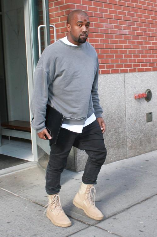 Kanye West à New-York le 24 avril 2015