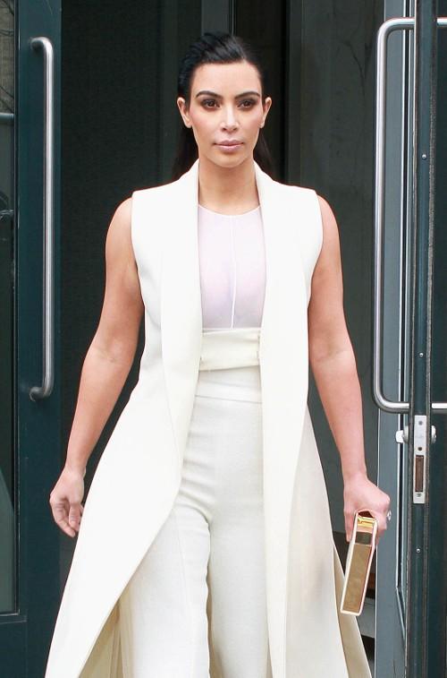 Kim Kardashian à New-York le 24 avril 2015