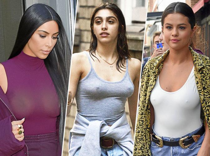 Kim Kardashian, Lourdes Leon, Selena Gomez... A l'aise sans soutif !