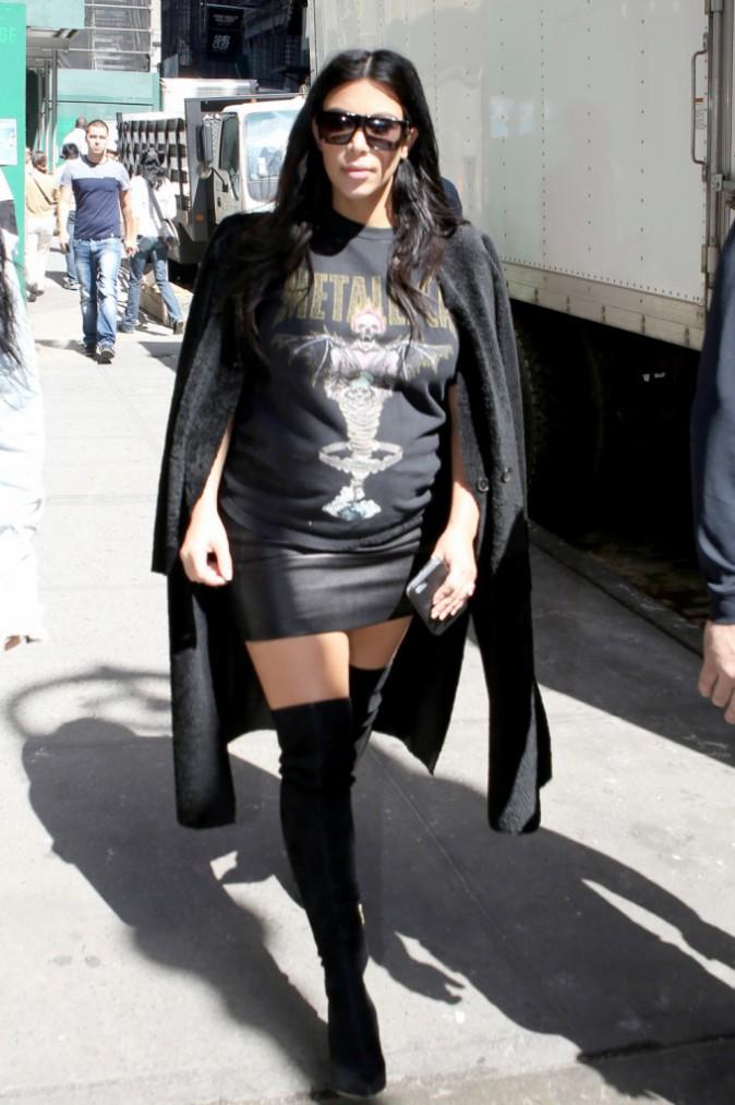Kim Kardashian à New York le 12 septembre 2015