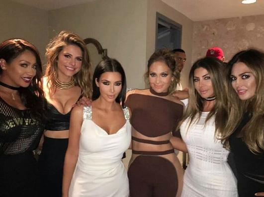 Kim Kardashian et Calvin Harris à l'anniversaire de Jennifer Lopez à Las Vegas ce samedi 23 juillet