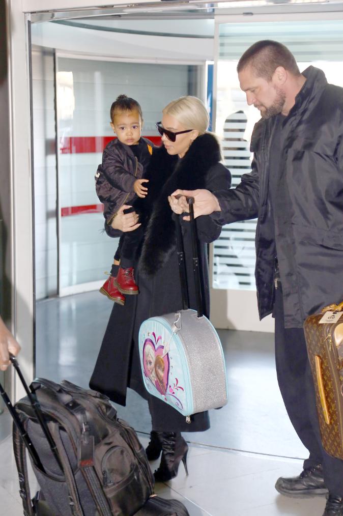 Kim Kardashian et North West le 12 mars 2015