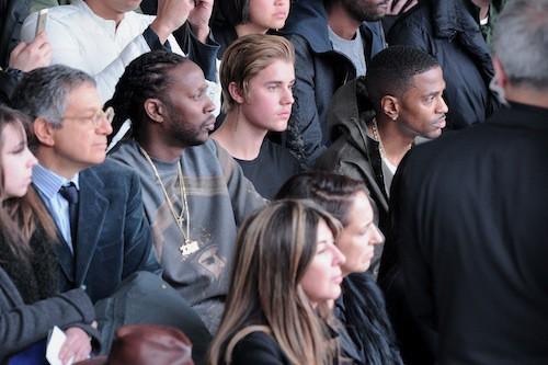 Big Sean, Justin Bieber au défilé Kanye West x Adidas le 12 février 2015