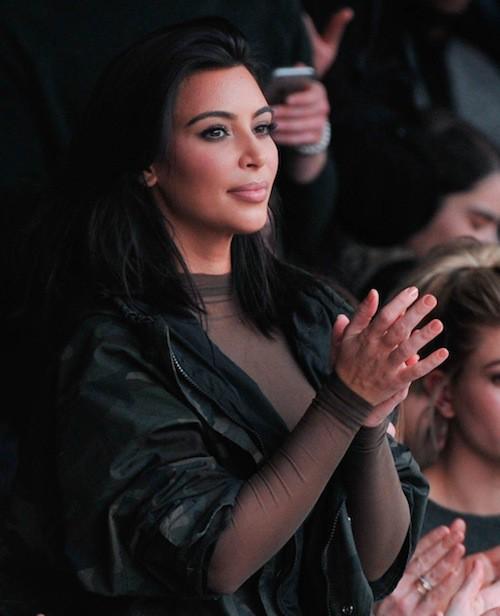 Kim Kardahsian au défilé Kanye West x Adidas le 12 février 2015