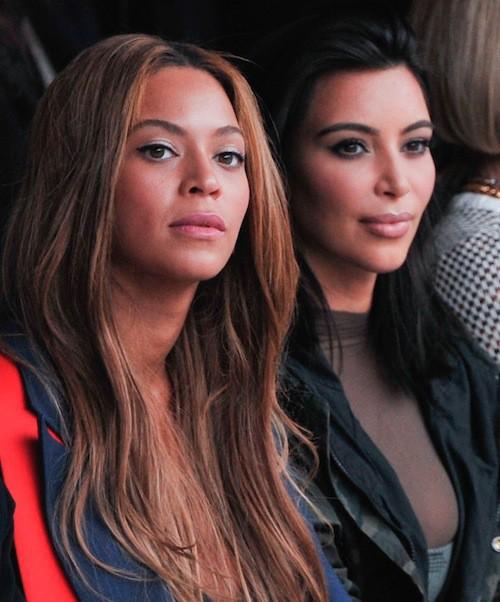 Kim Kardahsian et Beyoncé au défilé Kanye West x Adidas le 12 février 2015