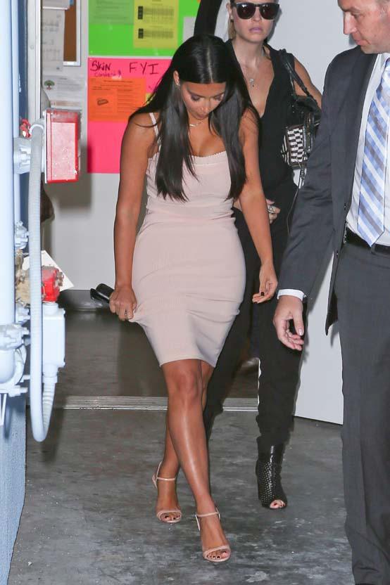 Kim Kardashian à Los Angeles le 6 août 2014