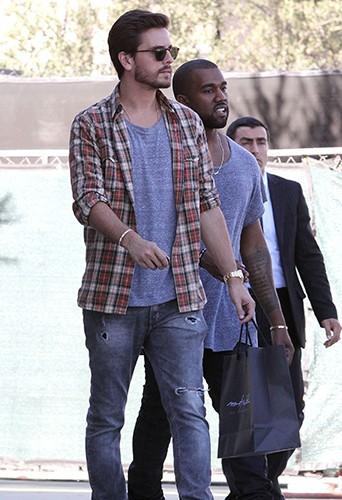 Scott Disick et Kanye West à Los Angeles le 13 novembre 2013