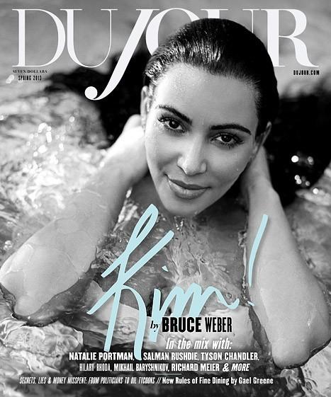 Kim Kardashian shootée par Bruce Weber pour le magazine DuJour