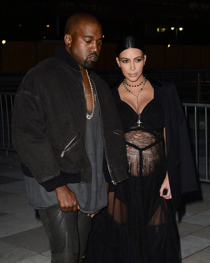 Kim Kardashian et Kanye West à New York le 11 septembre 2015