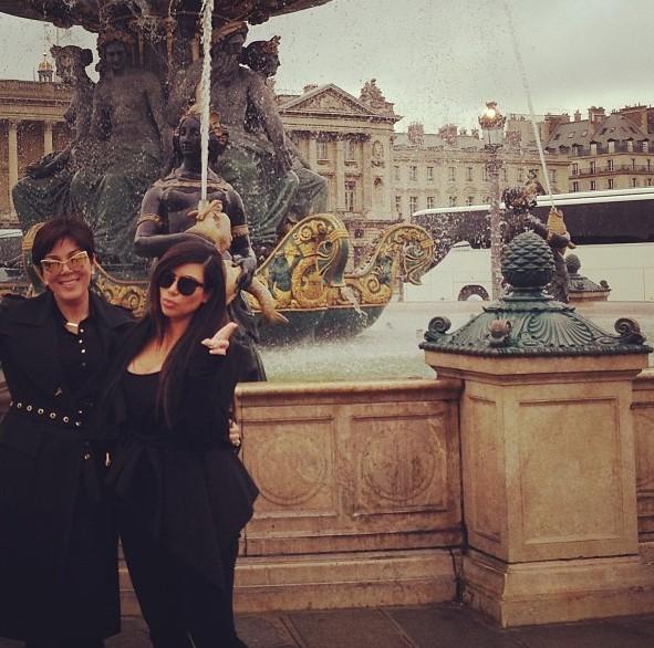 Kim Kardashian et sa maman Kris Jenner à Paris le 22 mai 2013