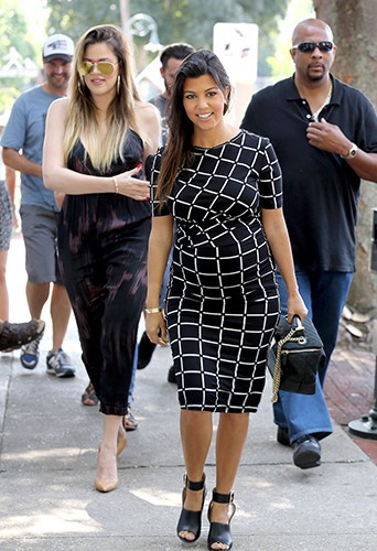 Khloé et Kourtney Kardashian à New York le 11 août 2014
