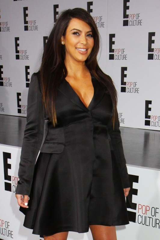 "Kim Kardashian lors de la soirée ""E! 2013 Upfront"" à New York, le 22 avril 2013."