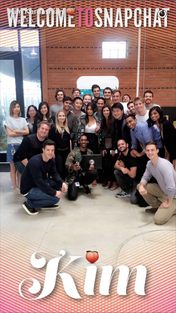 Kim prend la pause avec la team SnapChat