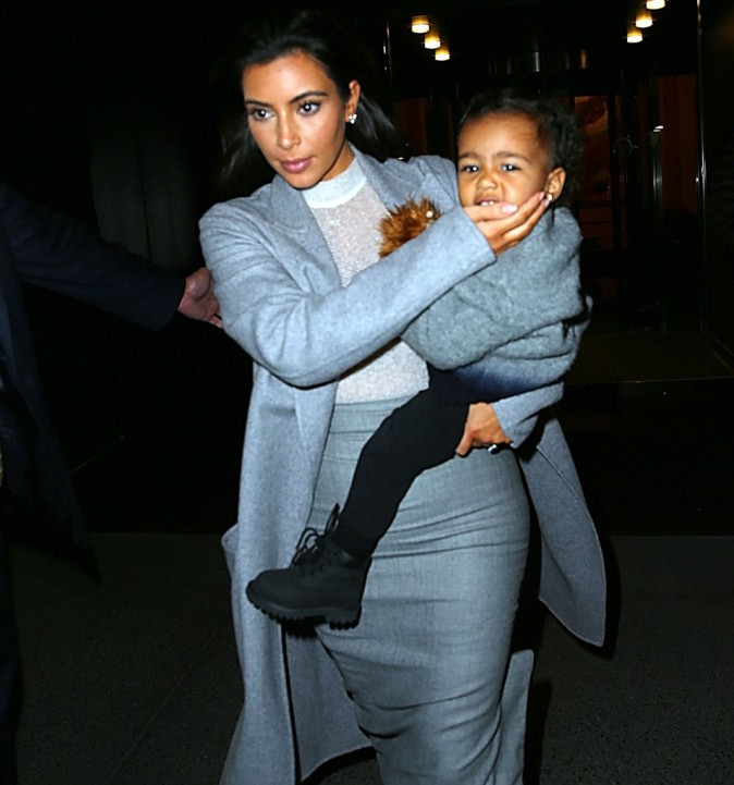 Kim Kardashian et North West le 11 novembre 2014