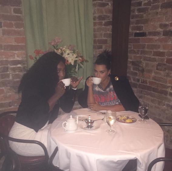 Serena Williams et Kim Kardashian le 7 septembre 2015