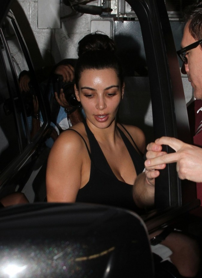 Kim Kardashian, sans maquillage, Beverly Hills, 18 juillet 2012