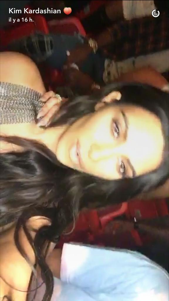 Kim Kardashian au concert de Kanye West ce vendredi 16 septembre