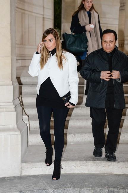 Kim Kardashian et Azzedine Alaïa à Paris, le 21 janvier 2014.