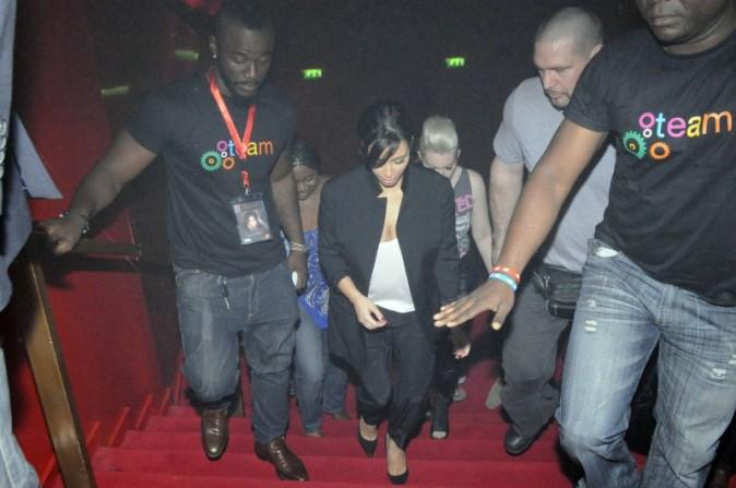 "Kim Kardashian lors de la soirée ""MaLife"" à Abidjan, le 20 janvier 2013."