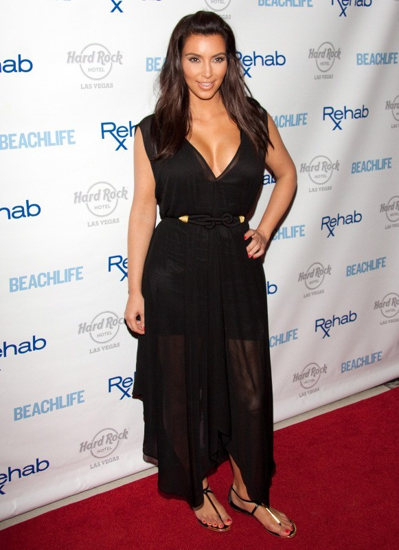 Kim Kardashian au Hard Rock Hotel and Casino à Las Vegas, le 3 juin 2012.