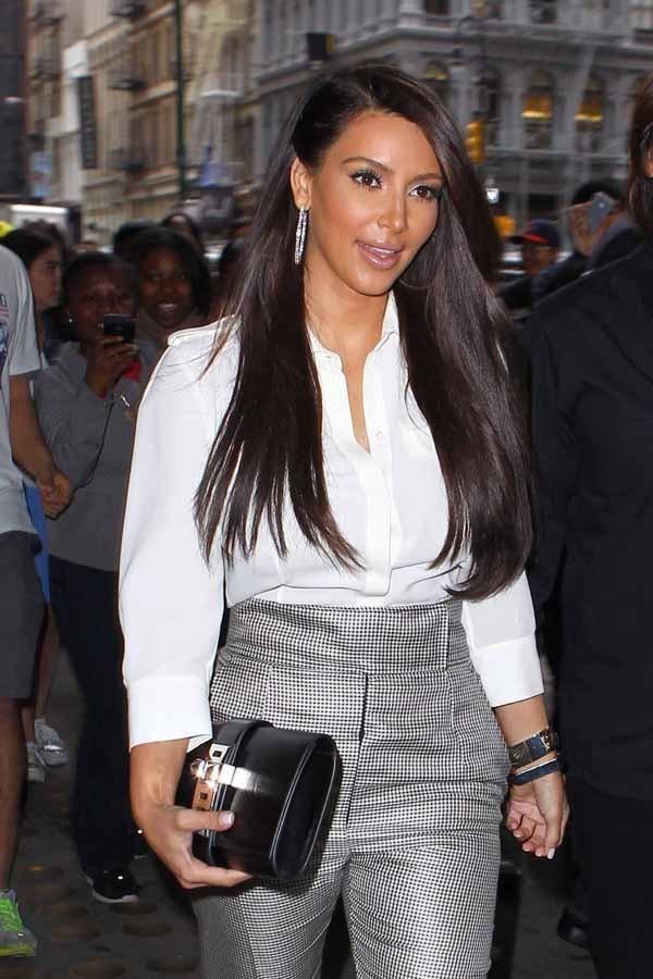 Kim Kardashian en virée shopping à New-York hier !