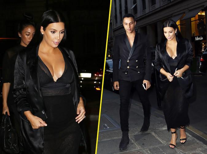 Kim Kardashian : surprise ! Elle d�balle son d�collet� � Paris !