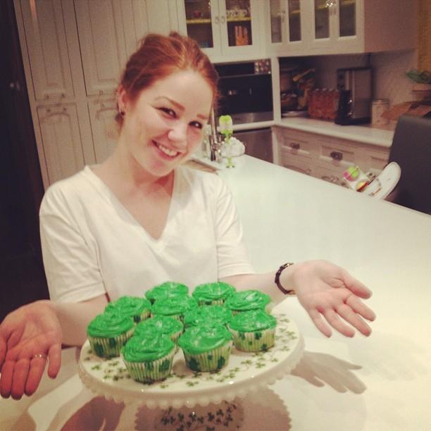 Chez Jessica Alba aussi les gourmandises étaient vertes !