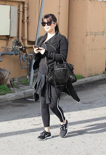 Kim Kardashian à la sortie du sport le 5 avril 2013
