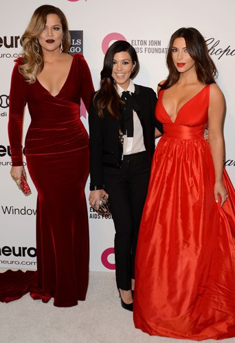 Khloé, Kourtney et Kim Kardashian à Los Angeles le 2 mars 2014