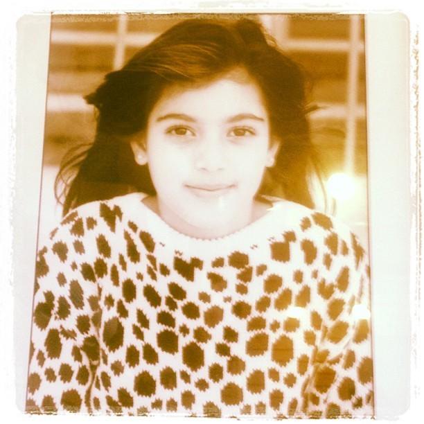Kim à l'âge de 7 ans