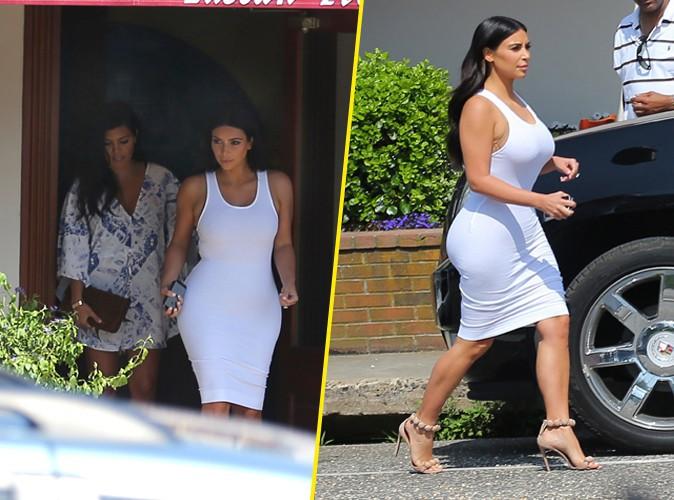 Kim Kardashian aux Hamptons le 3 juillet 2014
