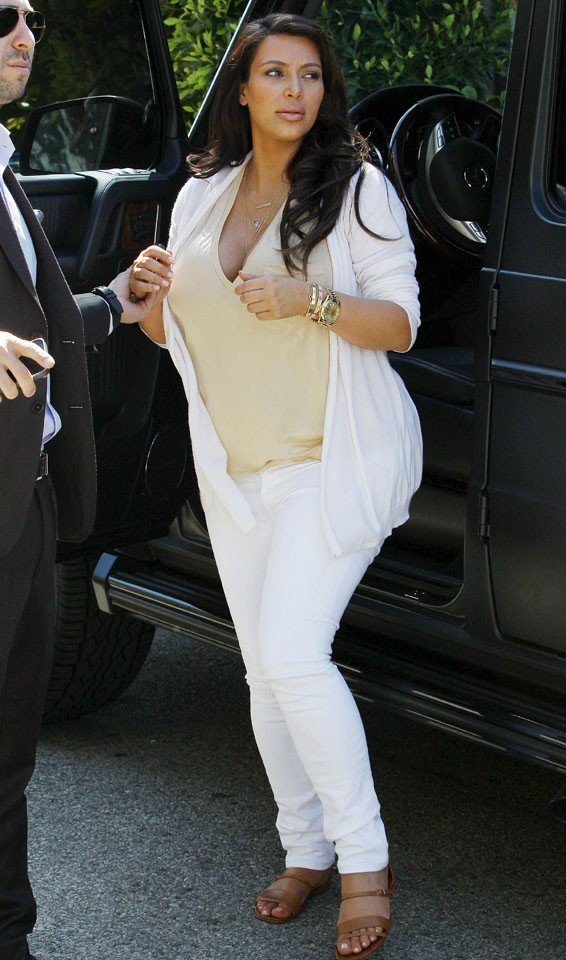 Kim Kardashian à Los Angeles le 20 avril 2013