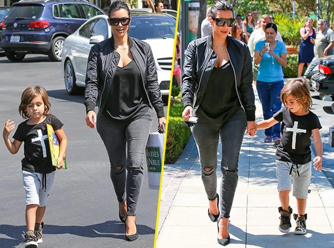 Kim Kardashian : vir�e shopping avec Mason, toujours impressionn� par les talons de sa tante !